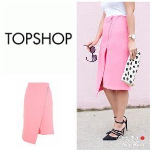 🆕️🔥Topshop Asymmetric Front Zip Midi skirt